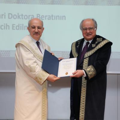 Dr. Ersin Arıoğlu was awarded an Honorary Doctorate by Istanbul Technical University