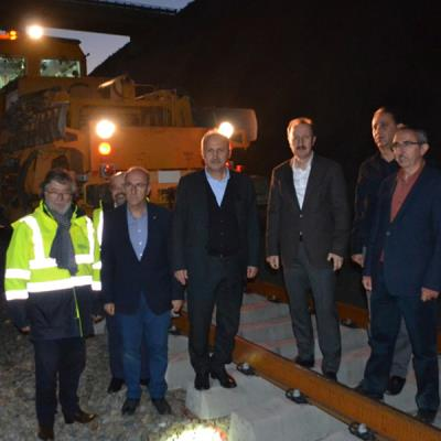 Yerköy - Sivas HSR Project Site was visited by the Minister of Transport and Infrastructure