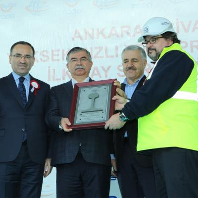First Rail Ceremony in Yerköy-Sivas High Speed Railway Project